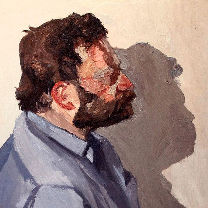 Profile of a Friend, Oil on canvas, 2016, 40x40cm