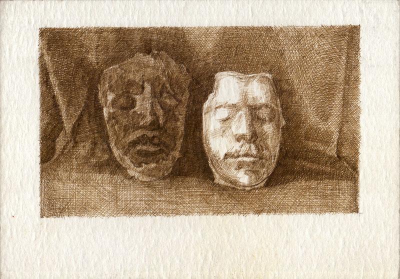 Untitled,Ink on cardboard, 2018, 14x23.5cm